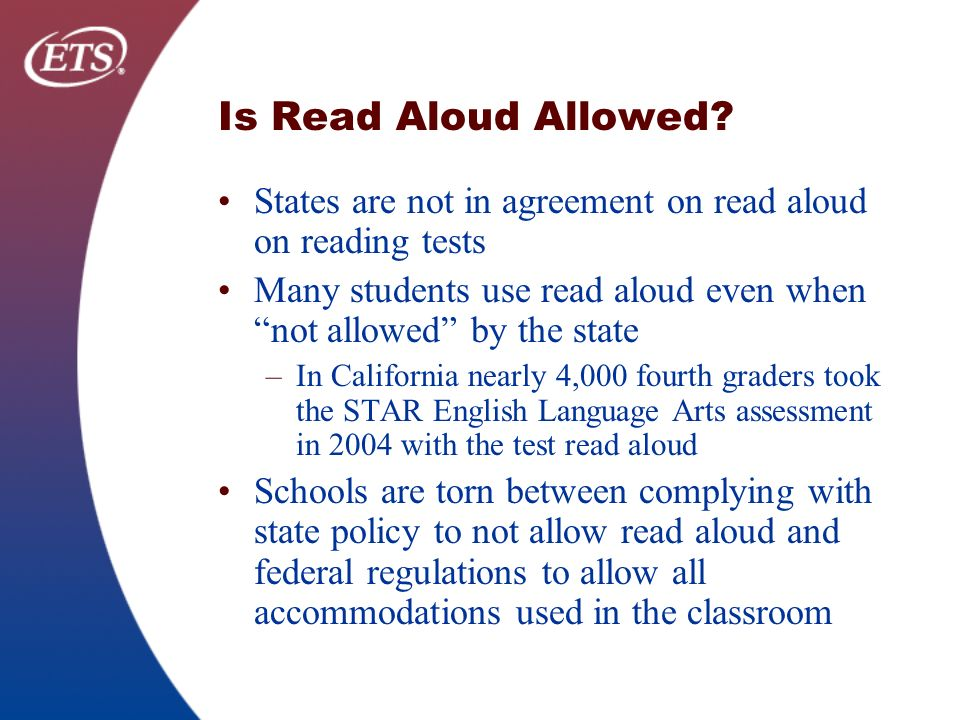 Is Read Aloud Allowed.