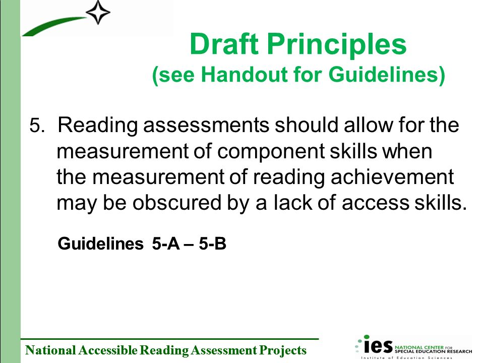 National Accessible Reading Assessment Projects 5.