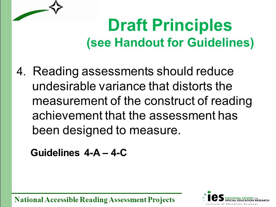 National Accessible Reading Assessment Projects 4.