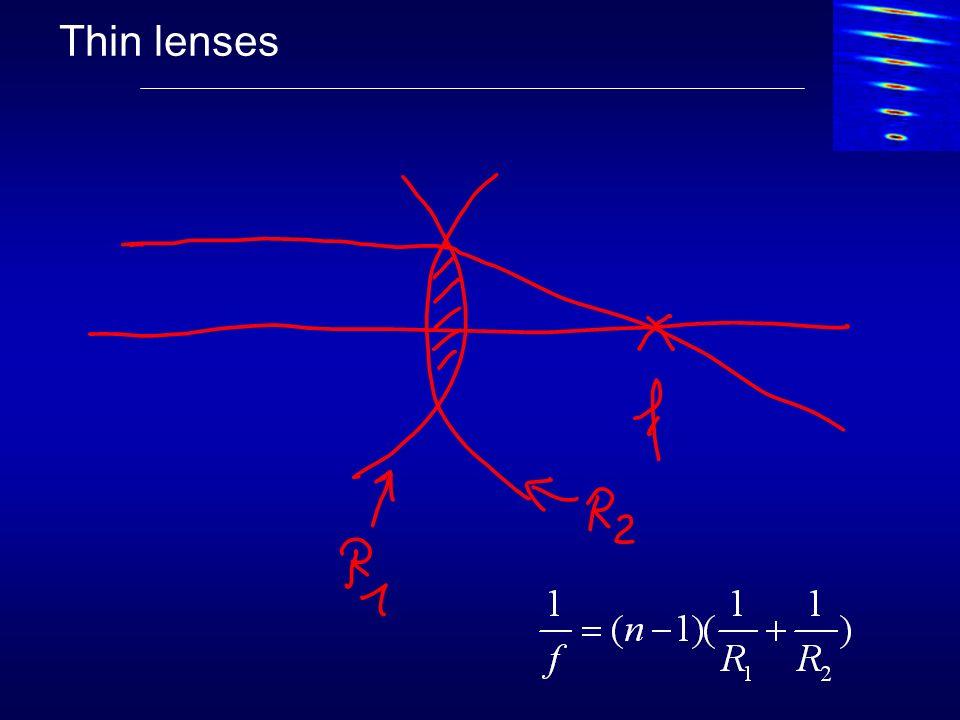 Thin lenses