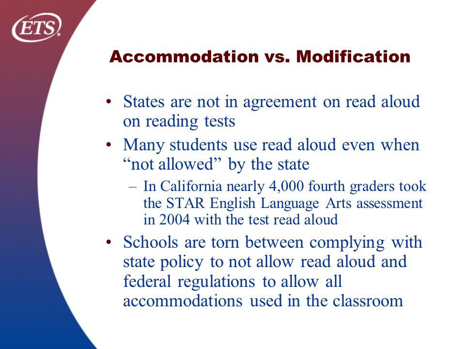 Accommodation vs.