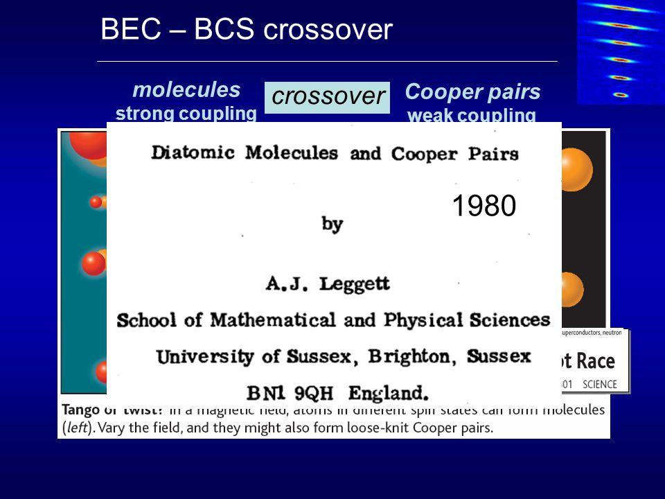 k B T F : Fermi energy E pair : pairing energy 6 Li 2 BEC M.
