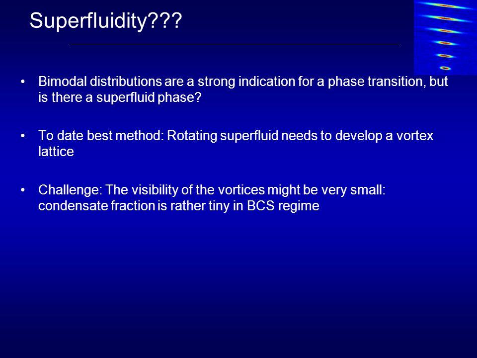 Observation of vortices! MIT experiment (2005) Vortices on BEC side of resonance!