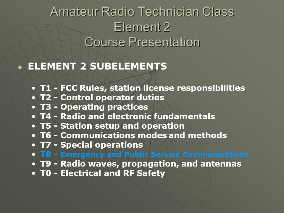 SUBELEMENT T8 - Emergency and Public Service Communications [3 exam questions – 3 groups] T8C [1 exam question] Message handling The name of the person originating the message must be included when passing emergency messages.