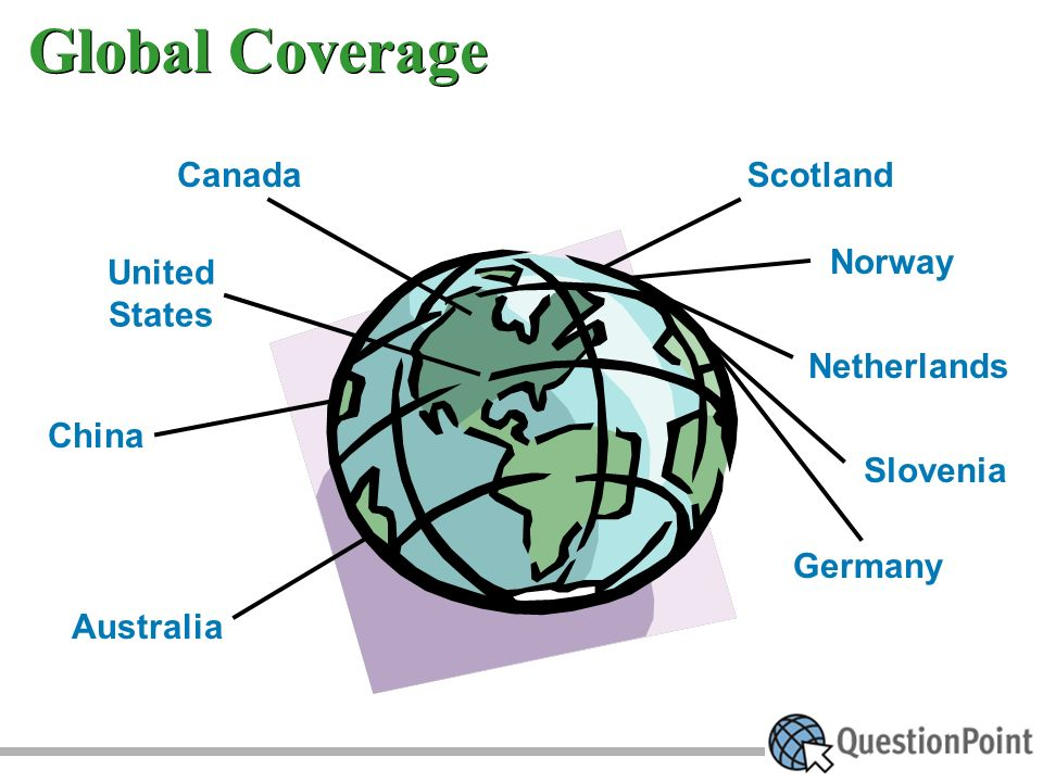 Global Coverage United States China Australia Norway Netherlands Slovenia Germany ScotlandCanada