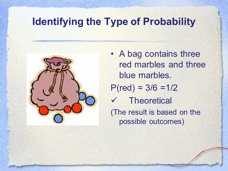 Compare experimental and theoretical probability Both probabilities are ratios that compare the number of favorable outcomes to the total number of po