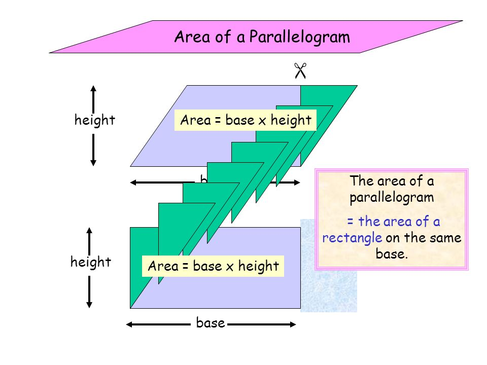 Find the area of each rectangular shape below.
