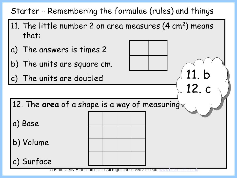 Finding the surface area of a box The surface area of a box is the total of all the rectangles that are its sides, top and bottom.
