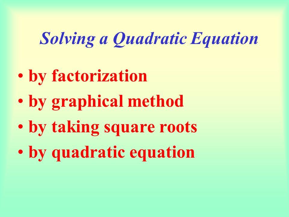Quadratic Equations,