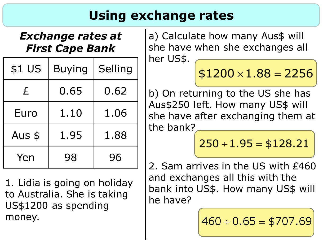 Commission rates Banks may also charge a commission rate, this is a sum for performing the exchange.