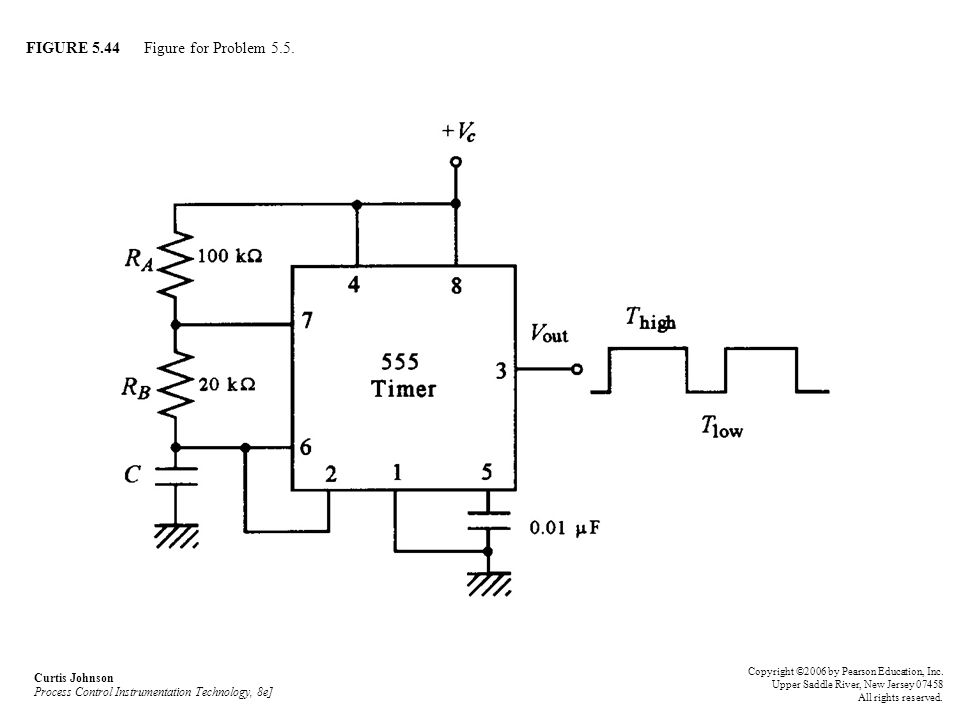 FIGURE 5.44 Figure for Problem 5.5. Curtis Johnson Process Control Instrumentation Technology, 8e] Copyright ©2006 by Pearson Education, Inc. Upper Sa