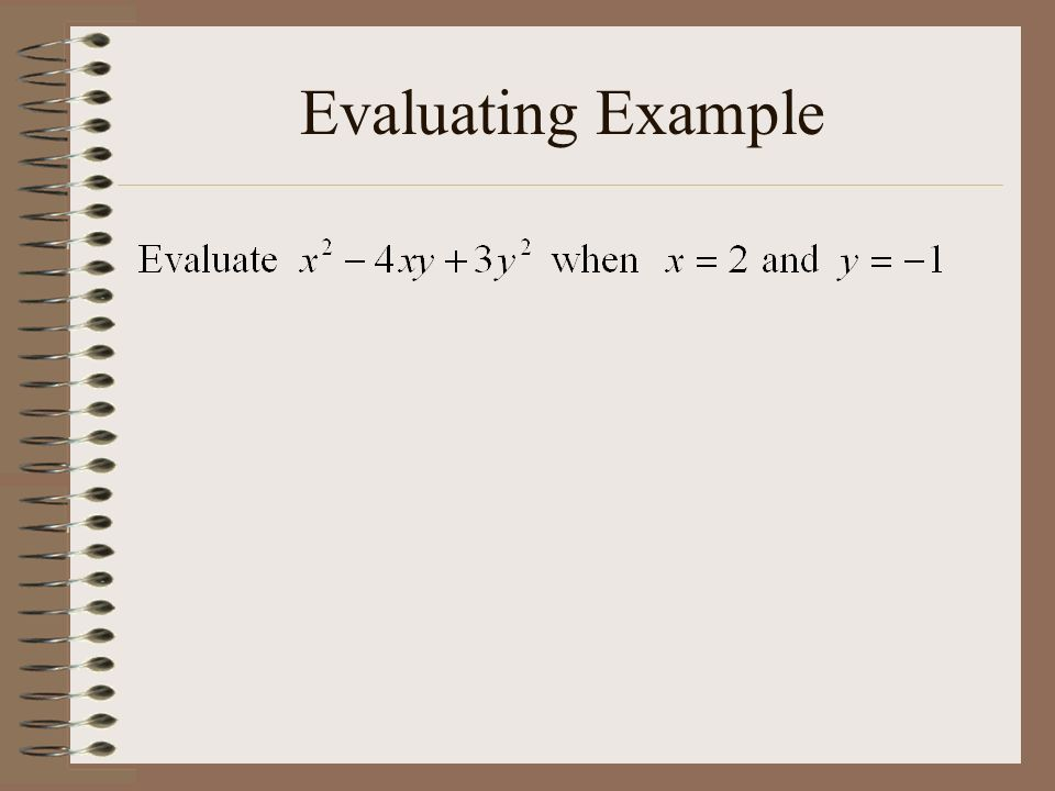 Evaluating Example