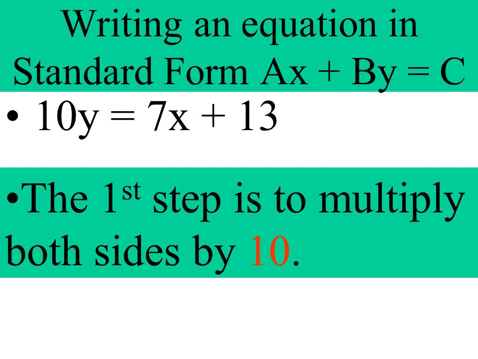 Linear Equation (+, -, x) of a variable or constant exponent of the variable is only 1 variables may not be multiplied variable cannot be the denominator graph of linear equation is always a straight line Page 66 #s 15 - 22