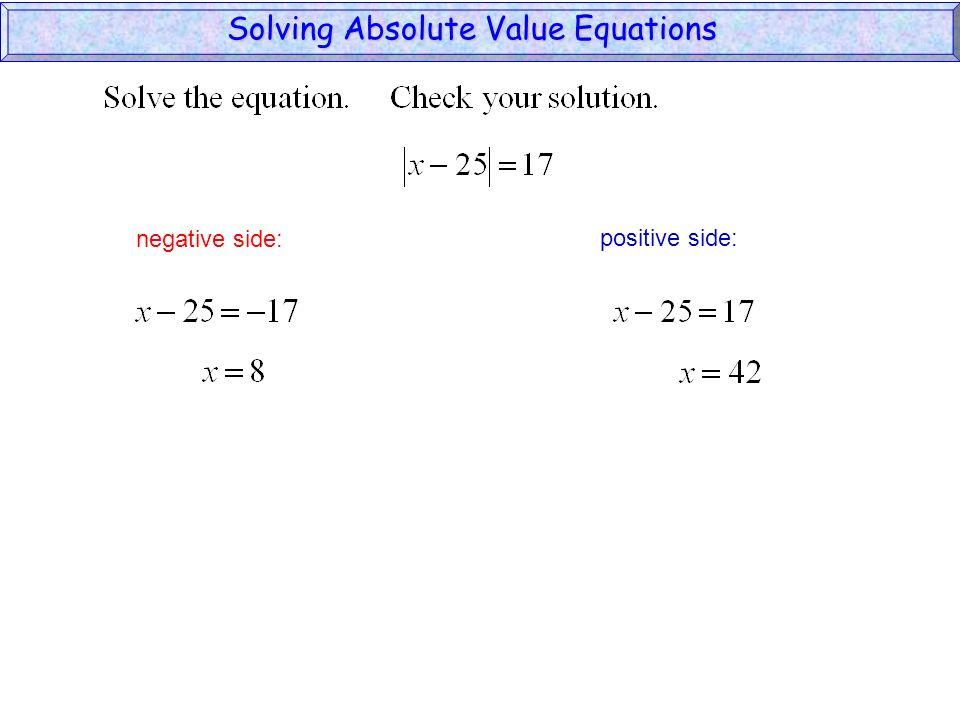 negative side: positive side: