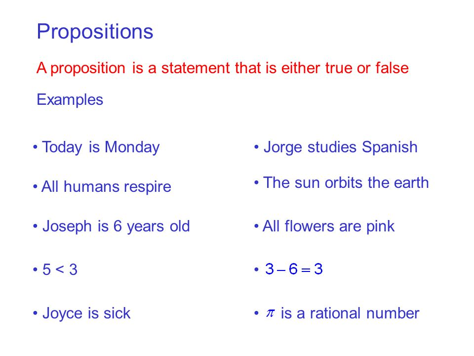 Are the following propositions.