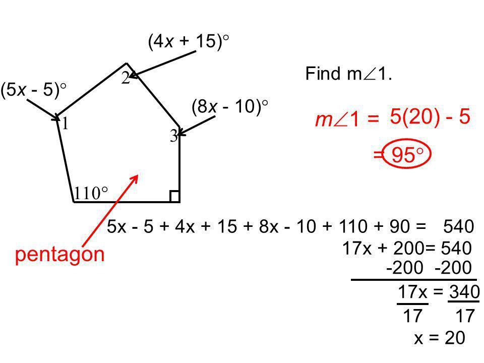 1 2 3 4 5 6 Exterior Angles Interior Angles