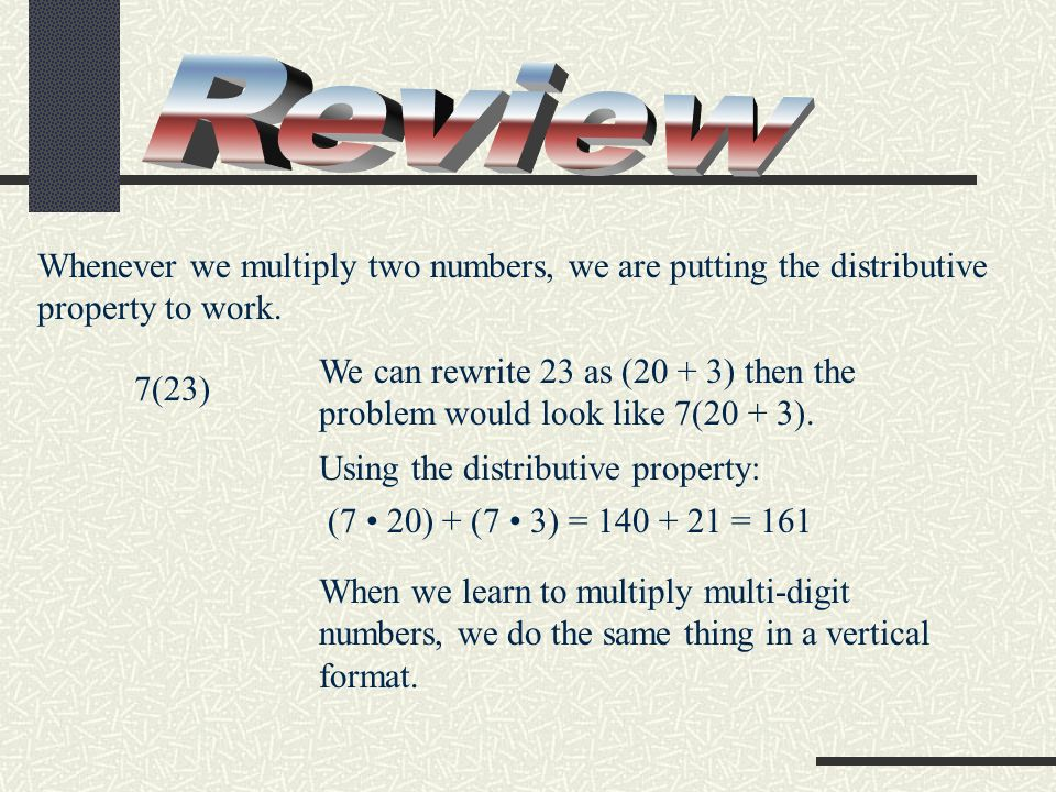(x + 4)(x – 3) (x + 4)(x – 3) x(x) + x(–3) + 4(x) + 4(–3) x2 x2 – 3x + 4x – 12 x2 x2 + x –