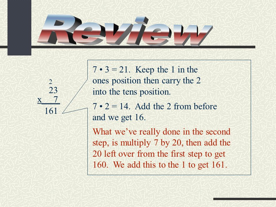 Multiply: 3xy(2x + y) This problem is just like the review problems except for a few more variables.