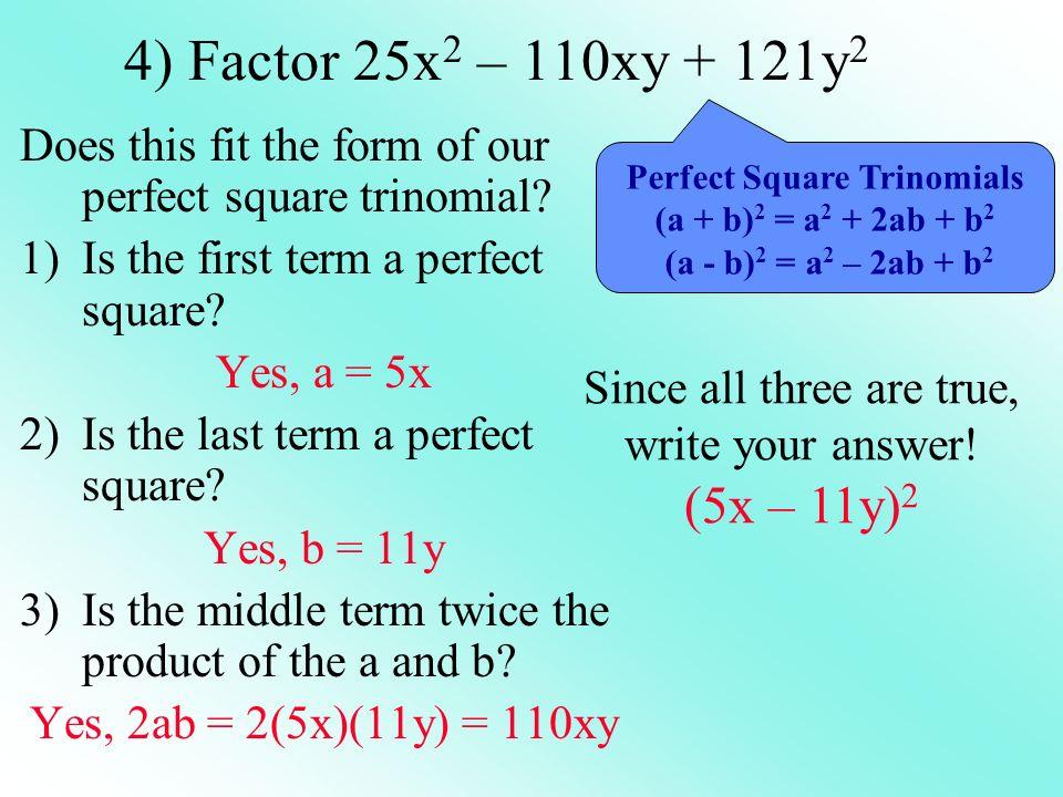 Factor 9k 2 + 12k + 4 1.(3k + 2) 2 2.(3k – 2) 2 3.(3k + 2)(3k – 2) 4.Ive got no clue…Im lost!