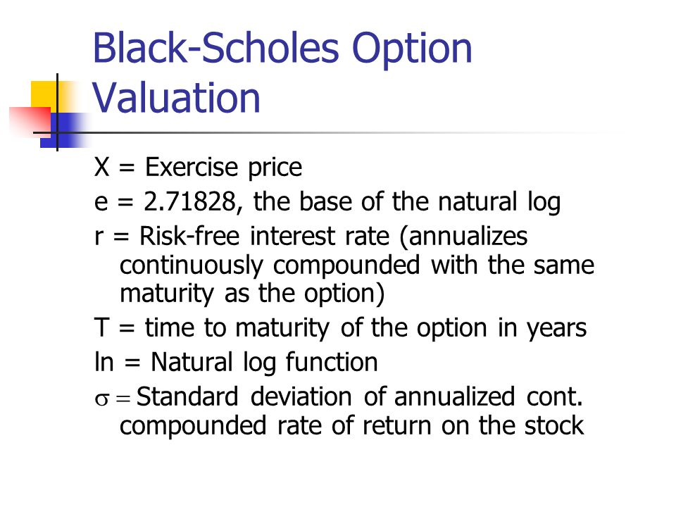 Black-Scholes with Dividends The call option formula applies to stocks that pay dividends.