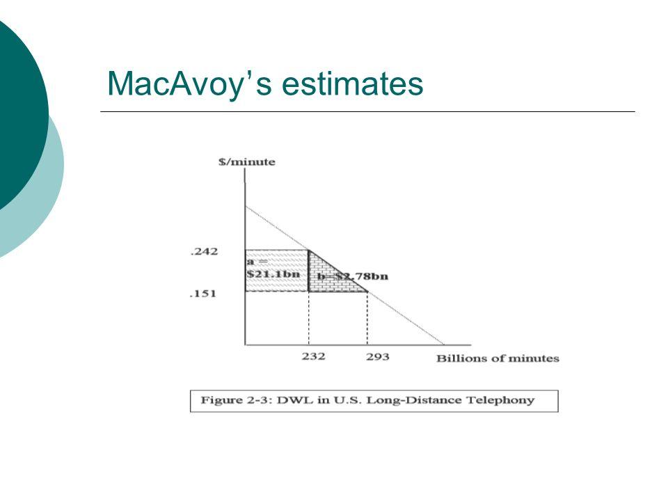 MacAvoy s estimates