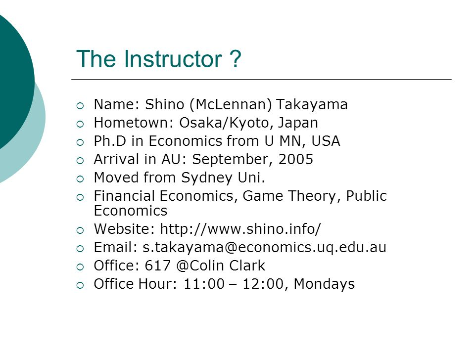 The Instructor .