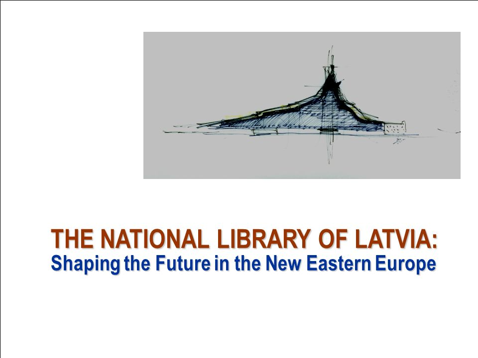 Bridge image Gunnar Birkerts design for new National Library of Latvia