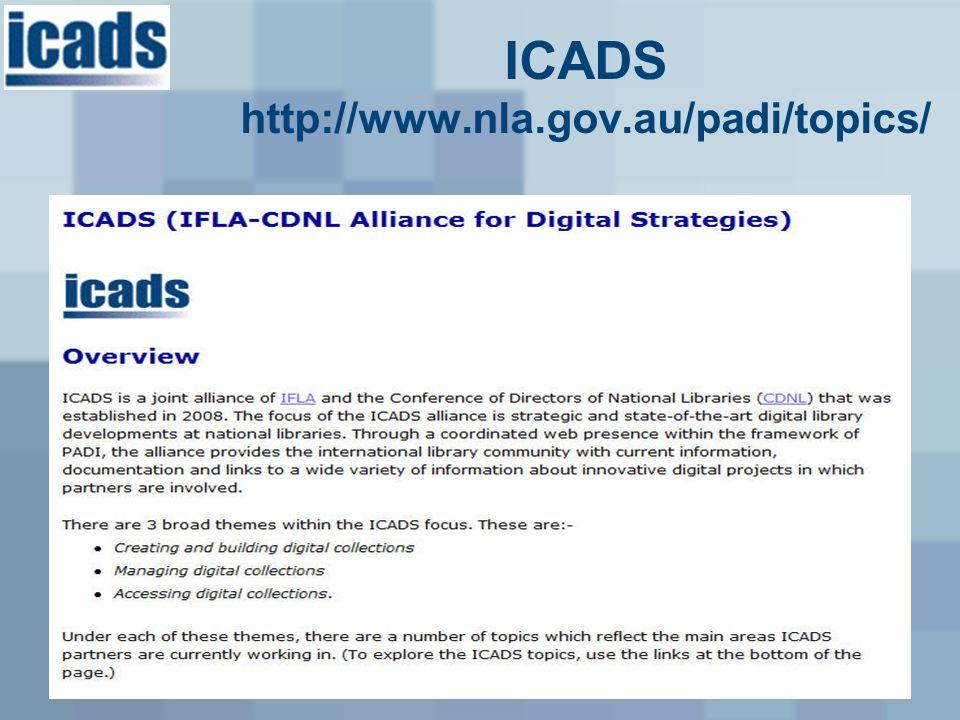 ICADS http://www.nla.gov.au/padi/topics/