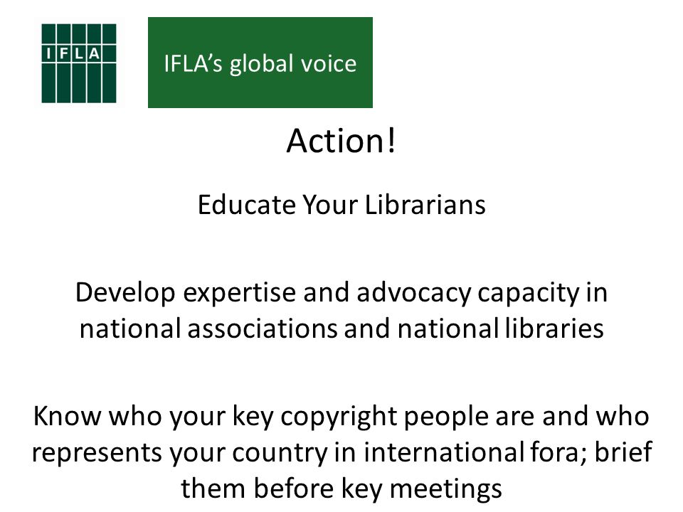 IFLAs global voice Action.