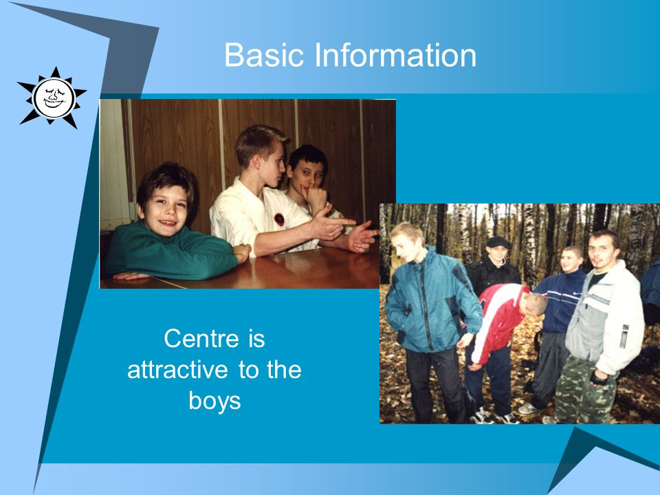 Basic Information Centre is attractive to the boys