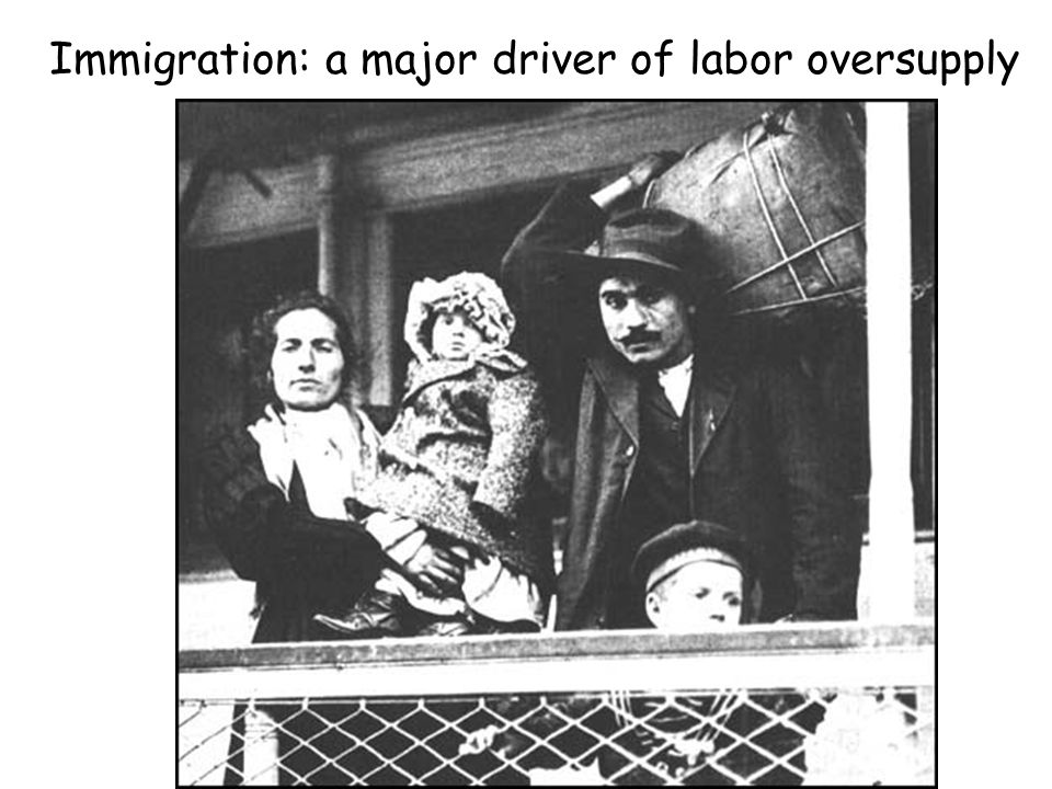 Immigration: a major driver of labor oversupply