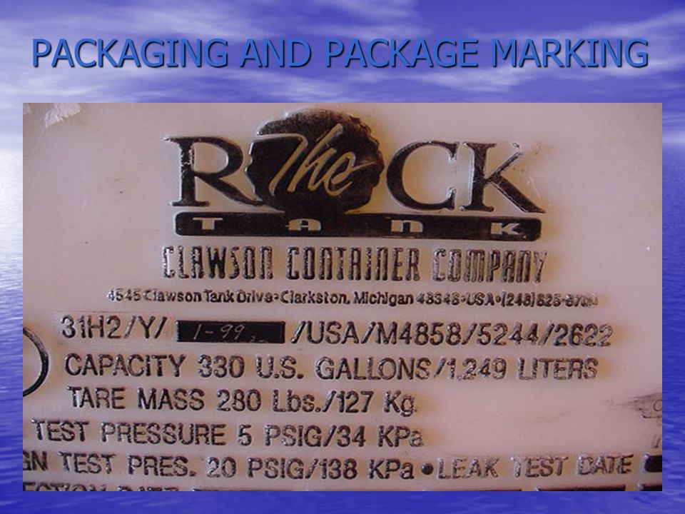 PKG & MARKING - QUESTIONS What type of package can be used to ship a hazardous material.