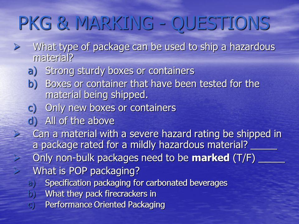 DOT/HAZMAT TRAINING INTRODUCTION INTRODUCTION THE HAZARDOUS MATERIALS TABLE THE HAZARDOUS MATERIALS TABLE SHIPPING PAPERS SHIPPING PAPERS PACKAGING AND PACKAGE MARKING PACKAGING AND PACKAGE MARKING LABELING LABELING PLACARDING PLACARDING LOADING AND STORAGE LOADING AND STORAGE HAZMAT EMERGENCIES HAZMAT EMERGENCIES