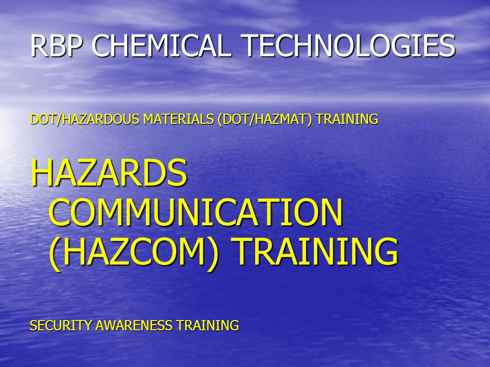 HAZARD COMMUNICATION Manufacturers or Suppliers are responsible for communicating the hazards of their materials (MSDSs and labels) Manufacturers or Suppliers are responsible for communicating the hazards of their materials (MSDSs and labels) End users (employers) are responsible for communicating these hazards to their employees and having the information available.
