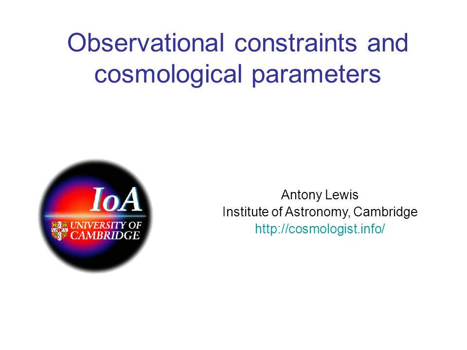 Contaldi, Hoekstra, Lewis: astro-ph/0302435 CMB (WMAP1ext) with galaxy lensing (+BBN prior) Spergel et al CFTHLS