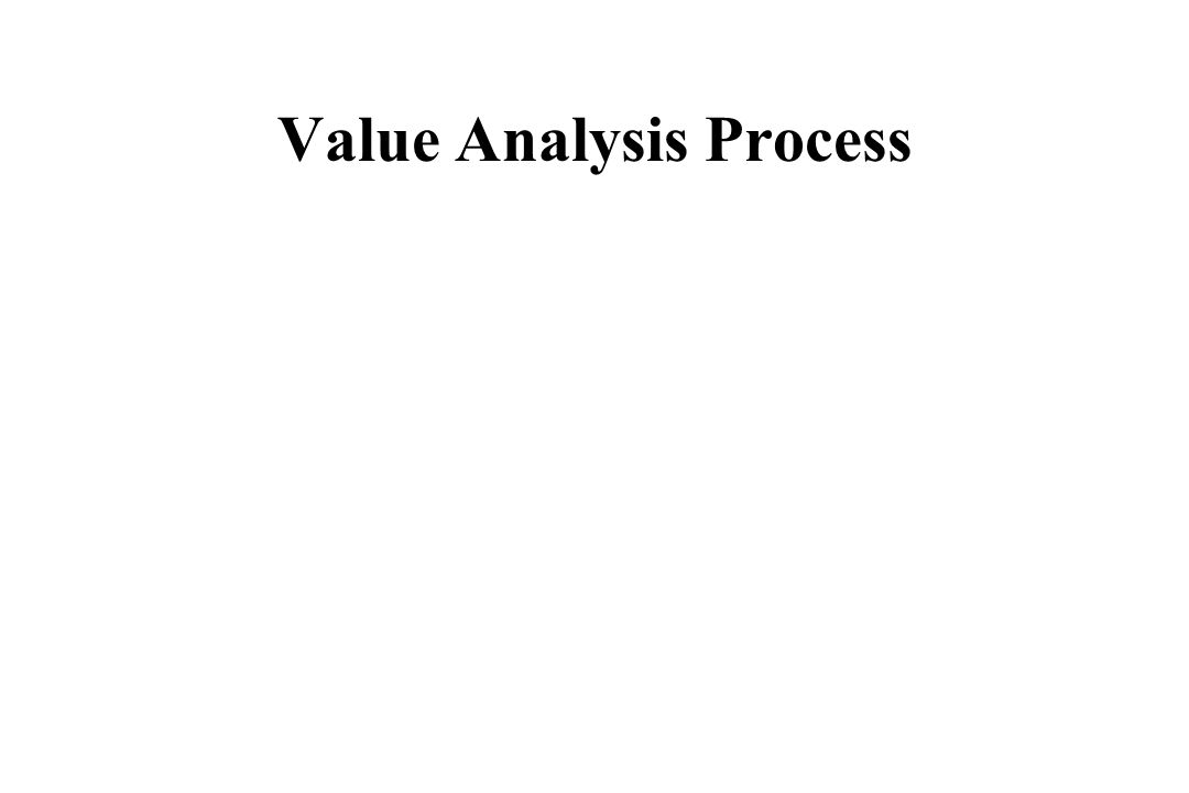 Value Analysis Process
