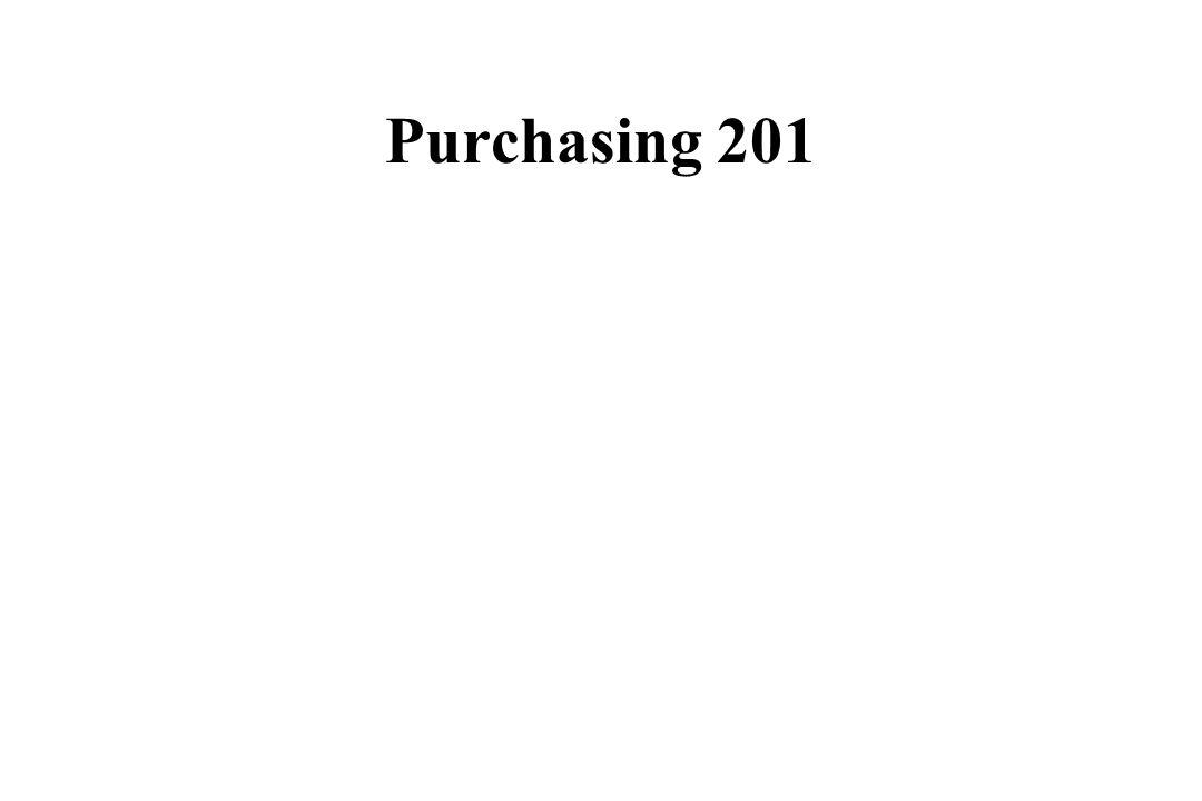 Purchasing 201