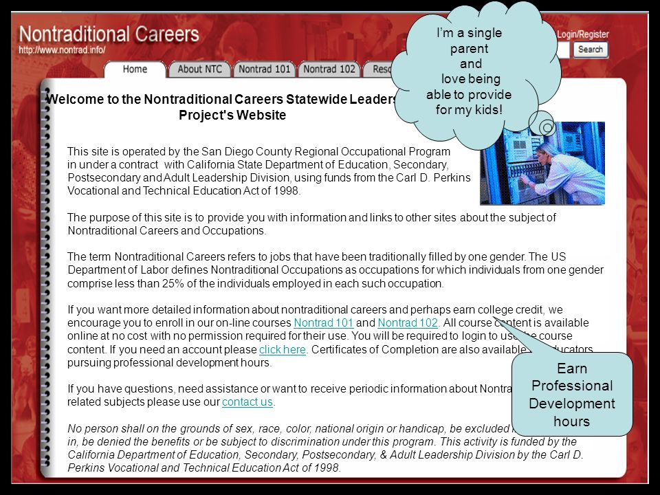 Teacher Resources Career Conference Planning GuideCareer Conference Planning Guide (word) CareerCareer Conference Planning Appendix Conference Planning Appendix (pdf) Special Populations Project ( Professional Development Activity Series) Illinois Center for Specialized Professional Support http://www.icsps.ilstu.edu/info/resources/nontraditional/ http://www.icsps.ilstu.edu/info/resources/nontraditional/ Tools for Teaming (professional development materials related to all special populations).