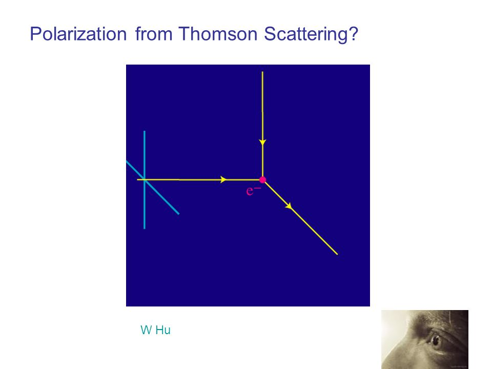 Polarization from Thomson Scattering? W Hu