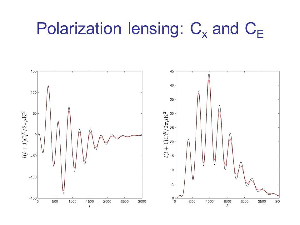 Polarization lensing: C x and C E