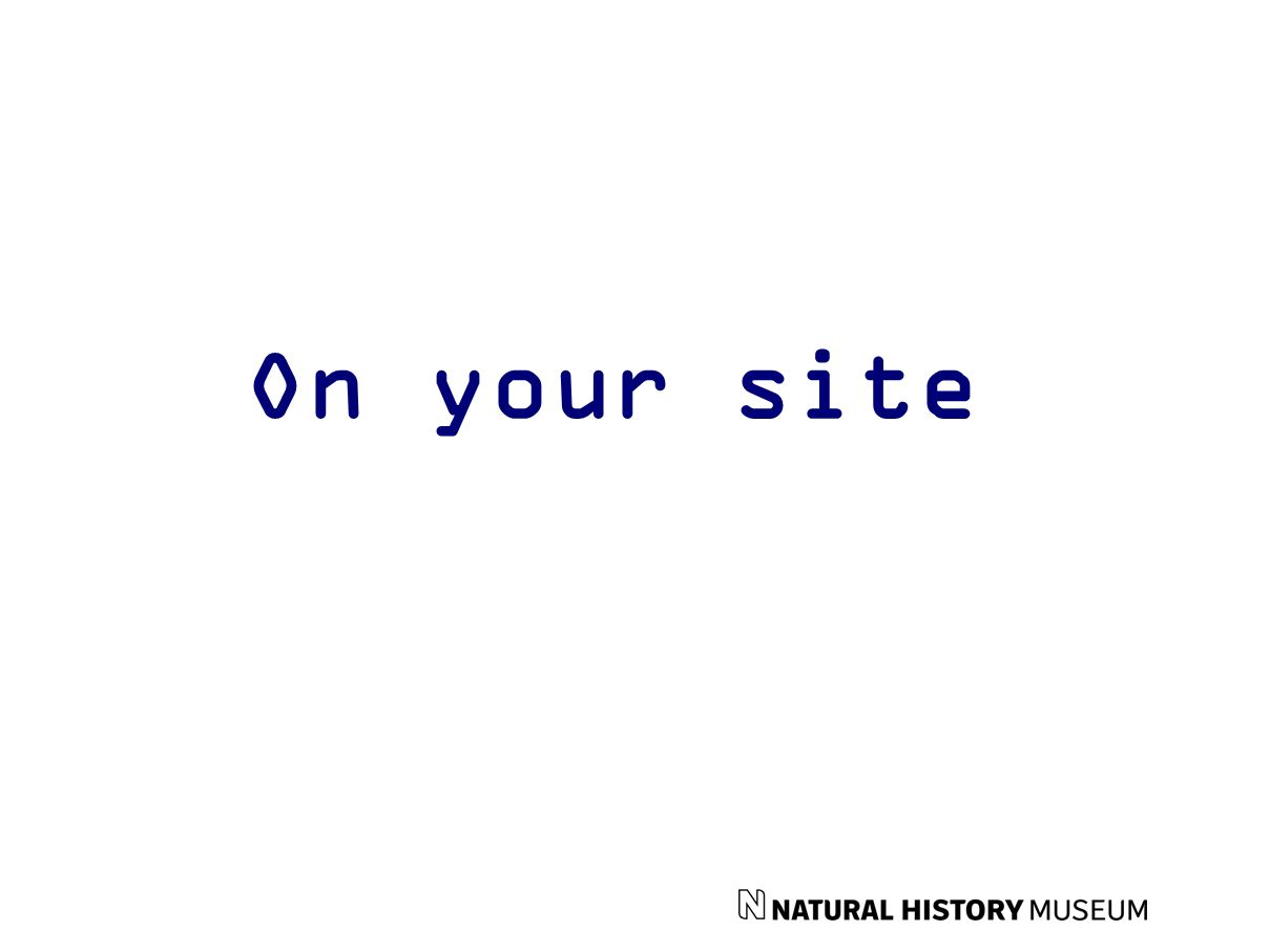 On your site
