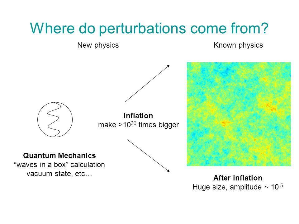 Where do perturbations come from.