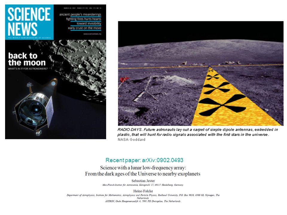 Recent paper: arXiv:0902.0493