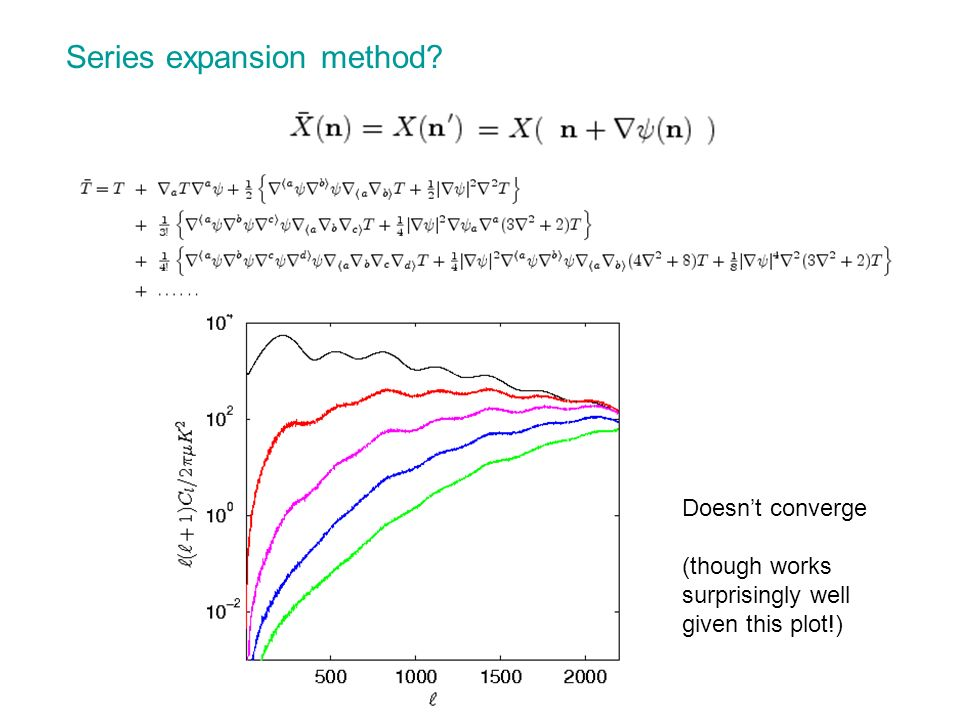 Series expansion method? Doesnt converge (though works surprisingly well given this plot!)