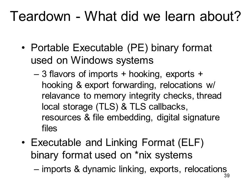 Teardown - What did we learn about.F*cking viruses, how do they work?.