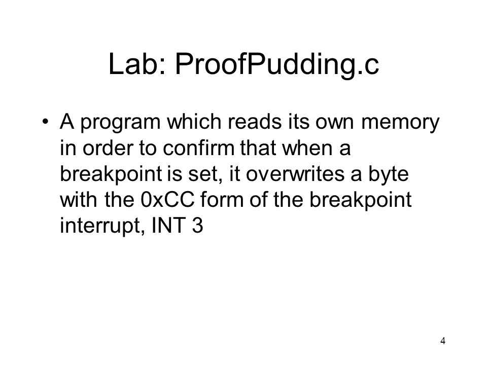 Lab: InstructionPrefixes.c More looking at and playing with the various prefixes 45