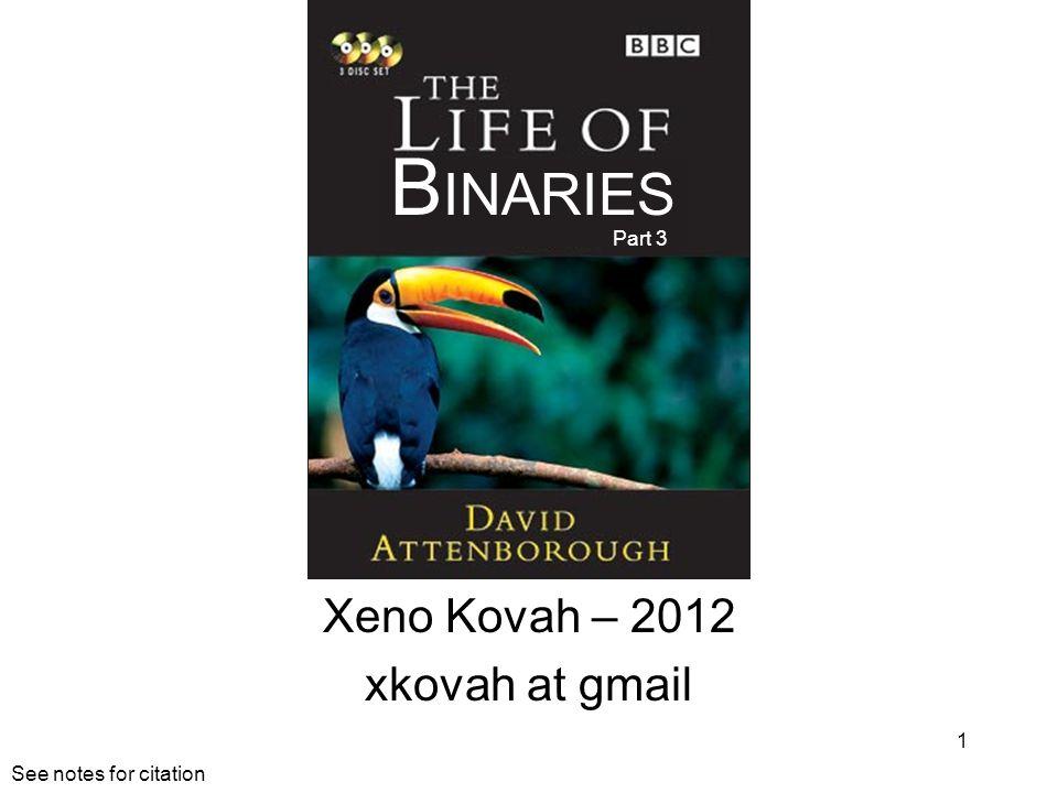 Xeno Kovah – 2012 xkovah at gmail 1 B INARIES Part 3 See notes for citation