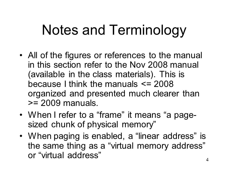 15 Whats going on here?: Page Once you have a PTE pointing a the physical address for a page of memory, the last 12 bits of the linear address are used as an offset into that page.