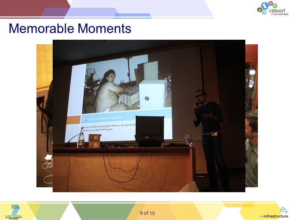 Virtual Biodiversity ViBRANT 9 of Memorable Moments 10