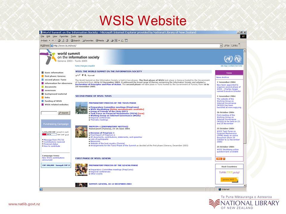 WSIS Website